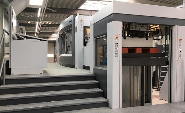 Die neue Dymatrix 106 CSB von Heidelberg bei Graphische Betriebe Kip.
