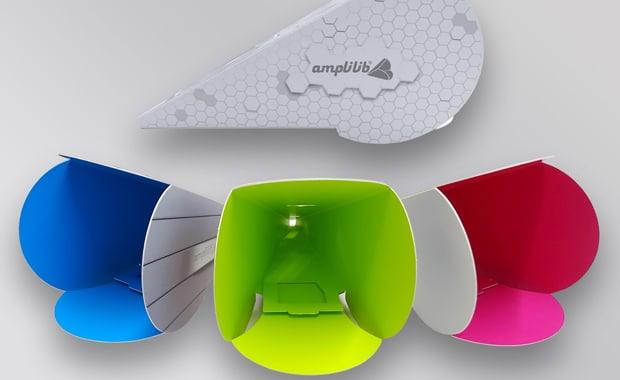 Thimm Display hat im Auftrag des französischen Unternehmens Lucy SAS einen Soundverstärker für Smartphones entwickelt, der auf dem Prinzip einer Flüstertüte basiert, aus Vollpappe ist und ganz ohne Strom auskommt.