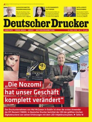 Out now: Deutscher Drucker 5/2018 ist demnächst in Ihrem Briefkasten und ab sofort im print.de-Shop bestellbar.