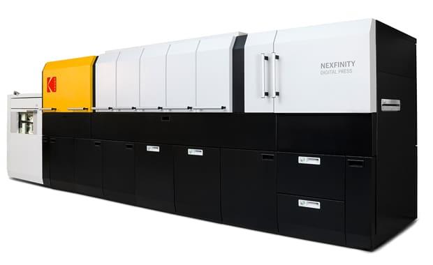 Die neue Fünffarben-Bogendruckmaschine Kodak Nexfinity soll noch im Frühjahr 2018 verfügbar sein.