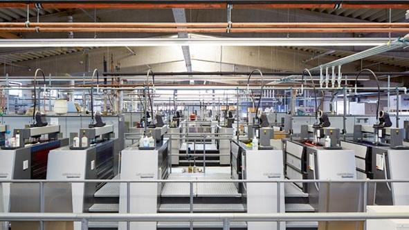 Bogendruckbereich der Onlineprinters GmbH