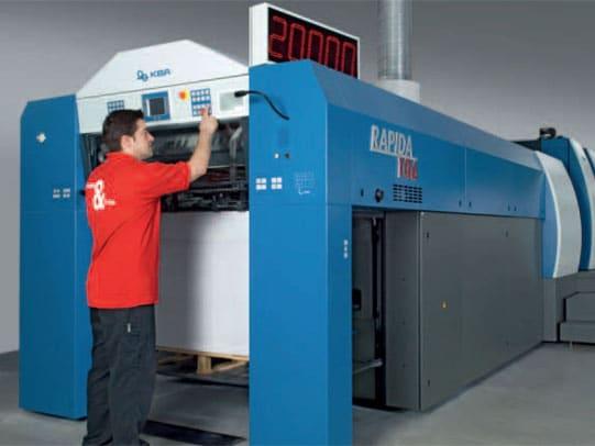 Bogenoffset-Druckmaschine von Koenig & Bauer AG: KBA Rapida 106