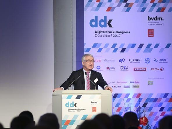 Dr. Paul Albert Deimel, Hauptgeschäftsführer des Bundesverbandes Druck und Medien (BVDM)