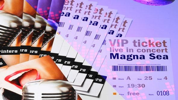 Fälschungssichere Eintrittskarten von Onlineprinters GmbH