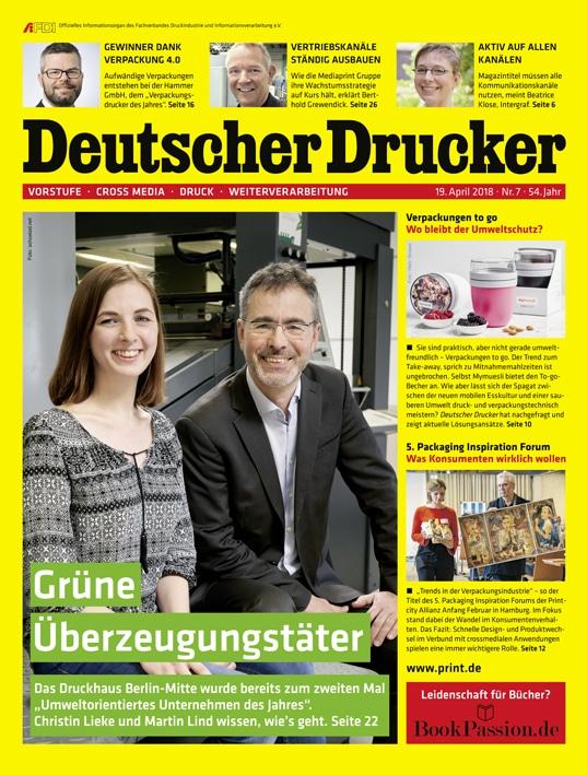 Deutscher Drucker 7/2018: Schwerpunkt Verpackungen