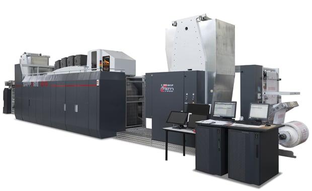 Die Sapphire Evo soll die Vorteile des Inkjet-Digitaldrucks mit denen des Flexodrucks miteinander kombinieren.