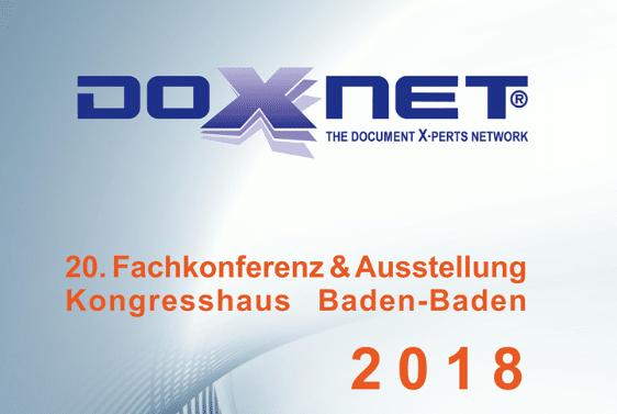 Die 20. Doxnet Fachkonferenz und Ausstellung findet vom 25. bis zum 27. Juni in Baden-Baden statt.