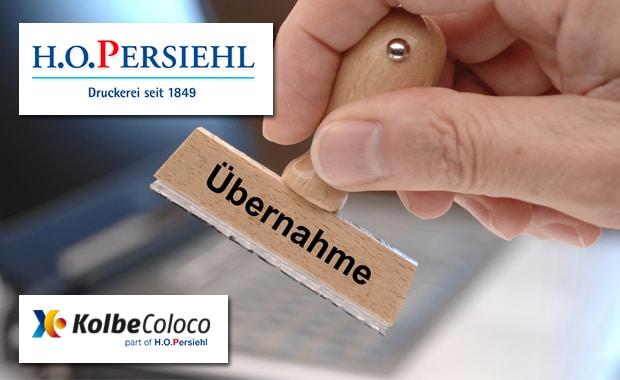 Die Firmengruppe H.O. Persiehl (Norderstedt) hat die Versmolder Spezialdruckerei Kolbe-Coloco übernommen.
