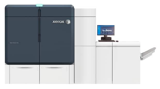 Die neue Xerox Iridesse bietet neben CMYK noch zwei weitere Farbstationen für Spezialtoner wie Gold oder Silber und Klartoner. So kann Effekt, CMYK und Druckveredelung in nur einem Durchgang aufgetragen werden.
