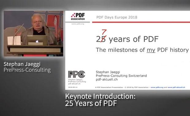 Wenn Stephan Jaeggi eine Keynote über die Entwicklung von PDF hält, geht es immer auch um den Druck.