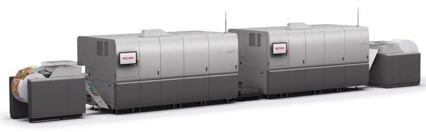 Die neue Endlosdruckmaschine Ricoh Pro VC70000 inklusive der neu entwickelten Inkjettinten soll gegen Ende des Jahres verfügbar sein.