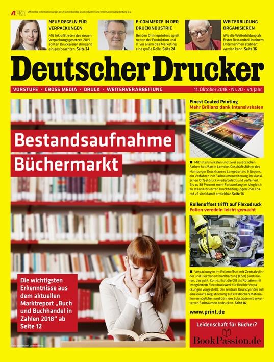 Deutscher Drucker, Ausgabe 20/2018 ist gerade erschienen.