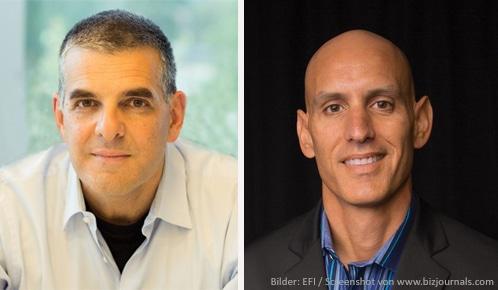 Guy Gecht trittt als CEO von EFI zurück. Ab 15. Oktober übernimmt William D. Muir, genannt Bill Muir (re.) die Führung des Software- und Druckmaschinenherstellers.