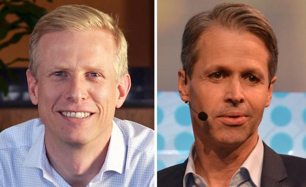 Mattias Byström (l.) wird Nachfolger von Udo Panenka als Firmenchef beim Verpackungsdruck-Softwarespezialisten Esko.