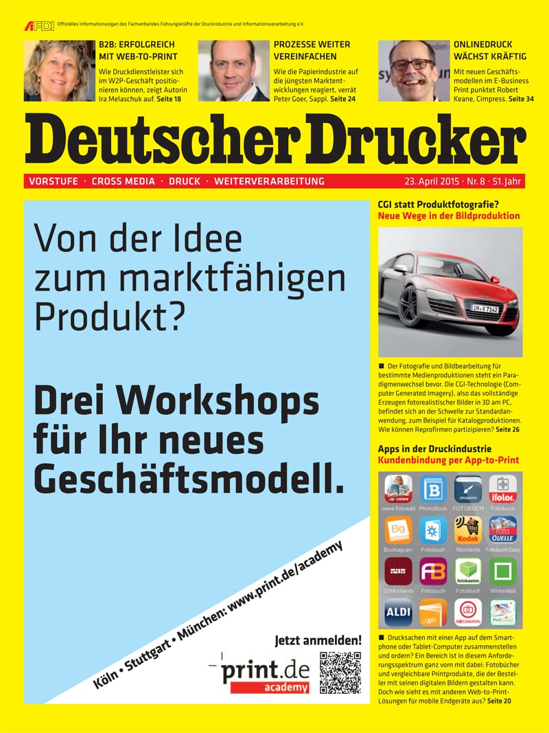 Produkt: Deutscher Drucker Digital 8/2015