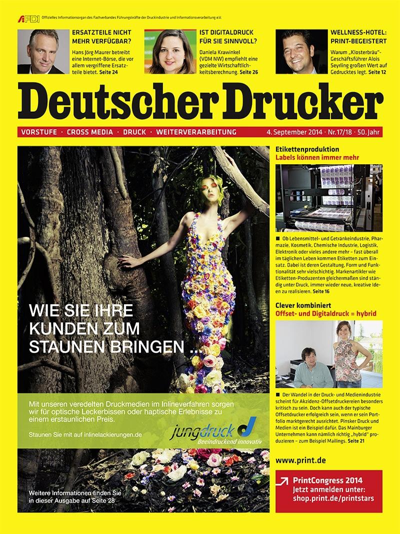 Produkt: Deutscher Drucker 17-18/2014 Digital