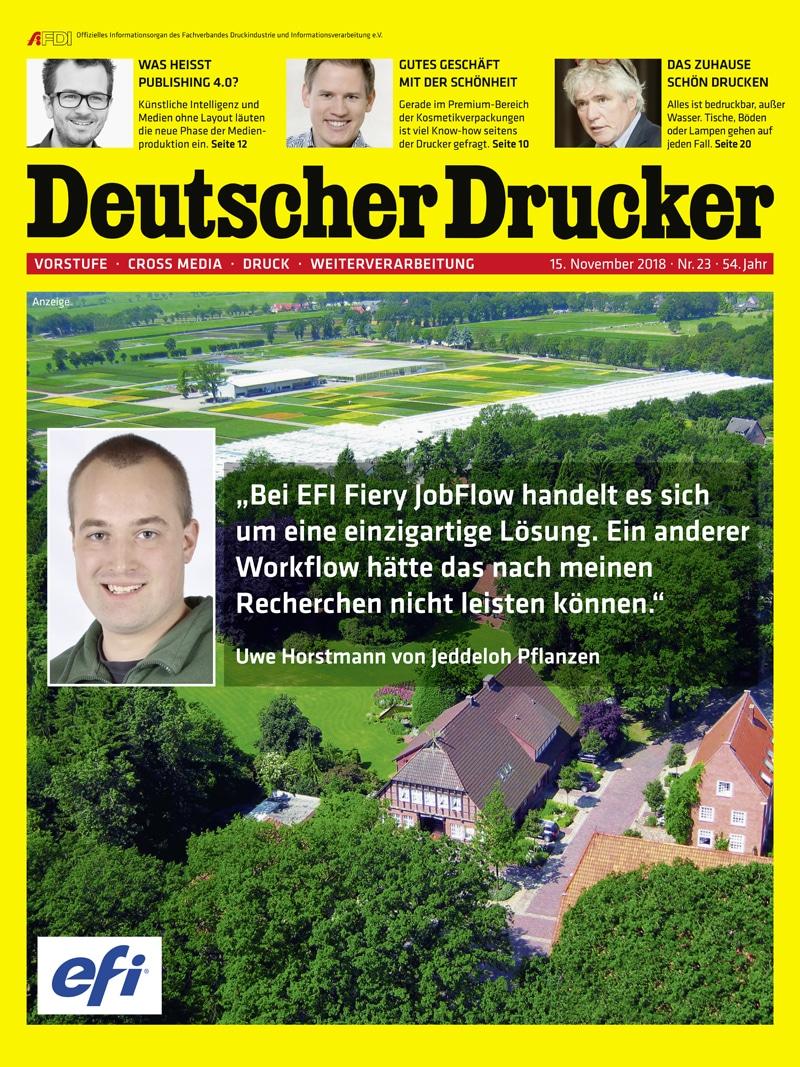 Produkt: Deutscher Drucker 23/2018 Digital