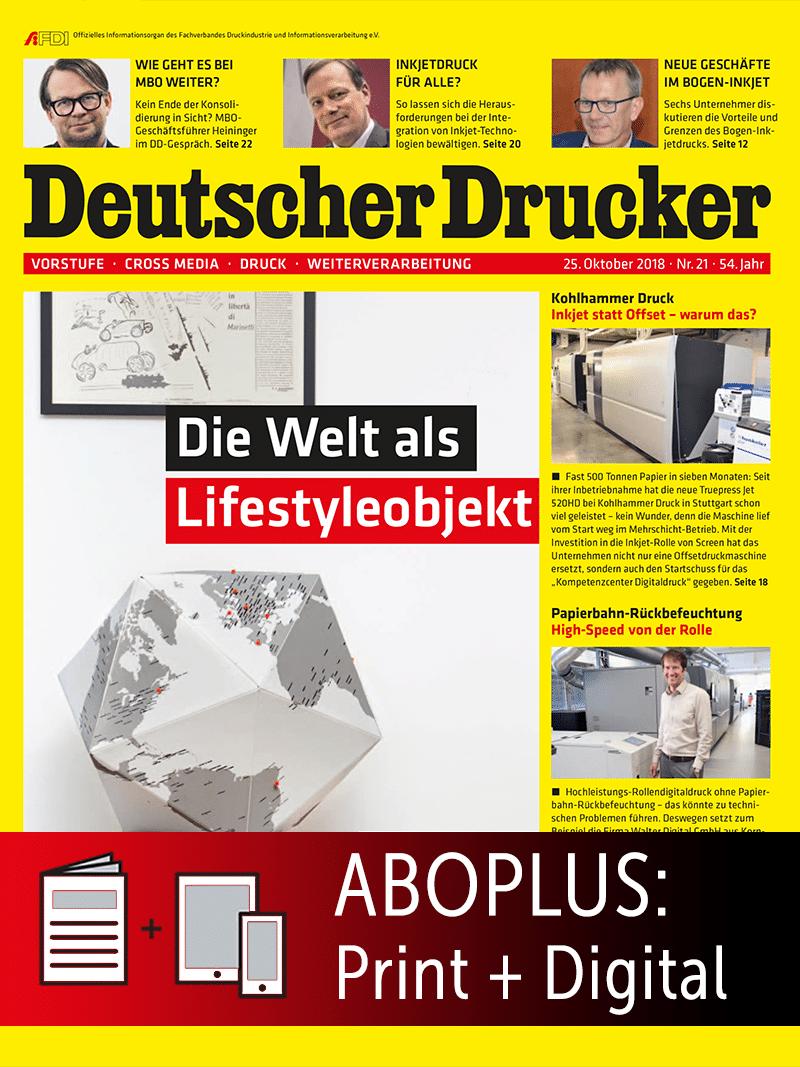Produkt: Deutscher Drucker Jahresabonnement Plus