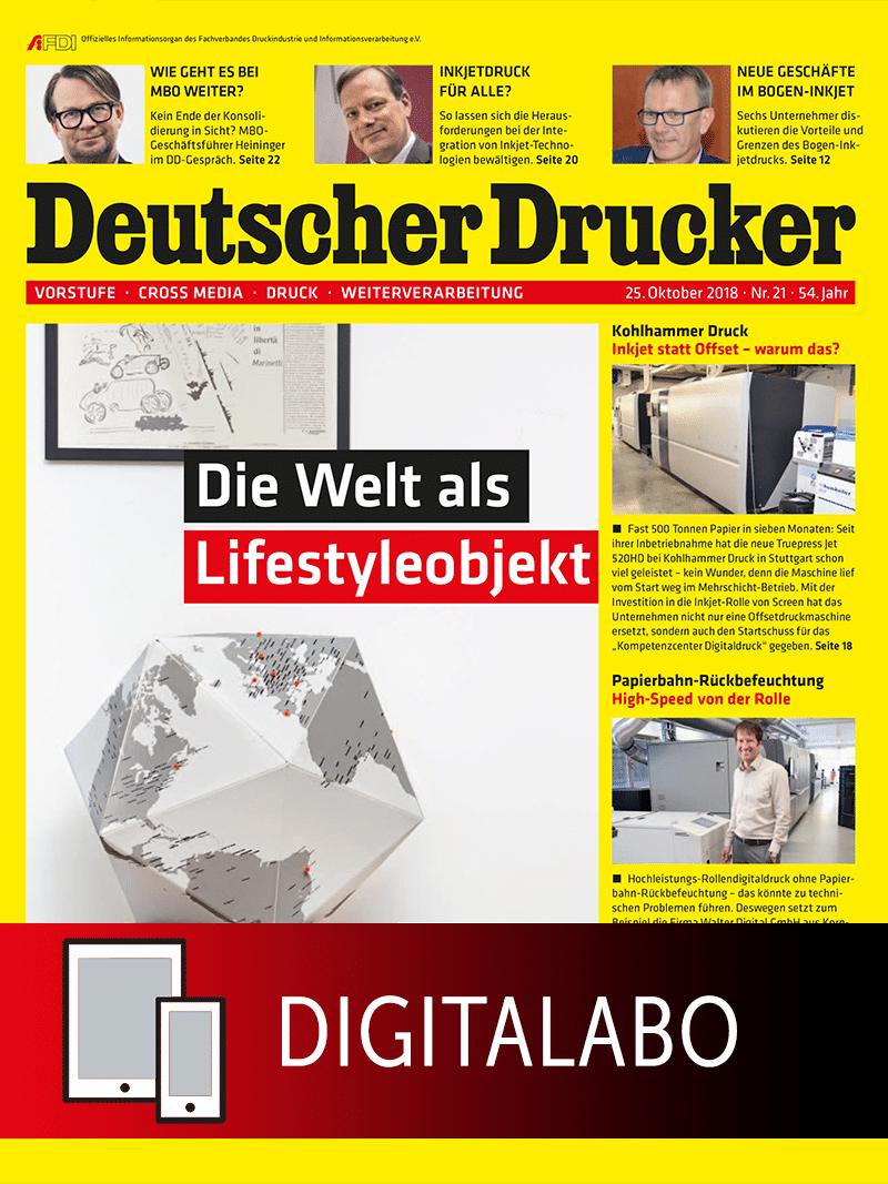 Produkt: Deutscher Drucker Jahresabonnement Digital