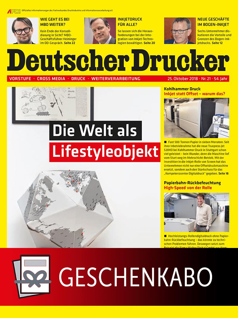 Produkt: Deutscher Drucker Geschenkabonnement Print