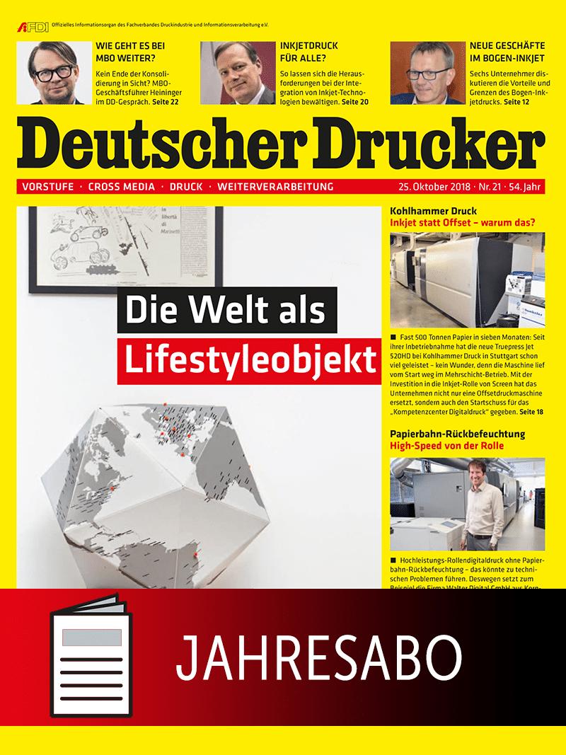 Produkt: Deutscher Drucker Jahresabonnement Print