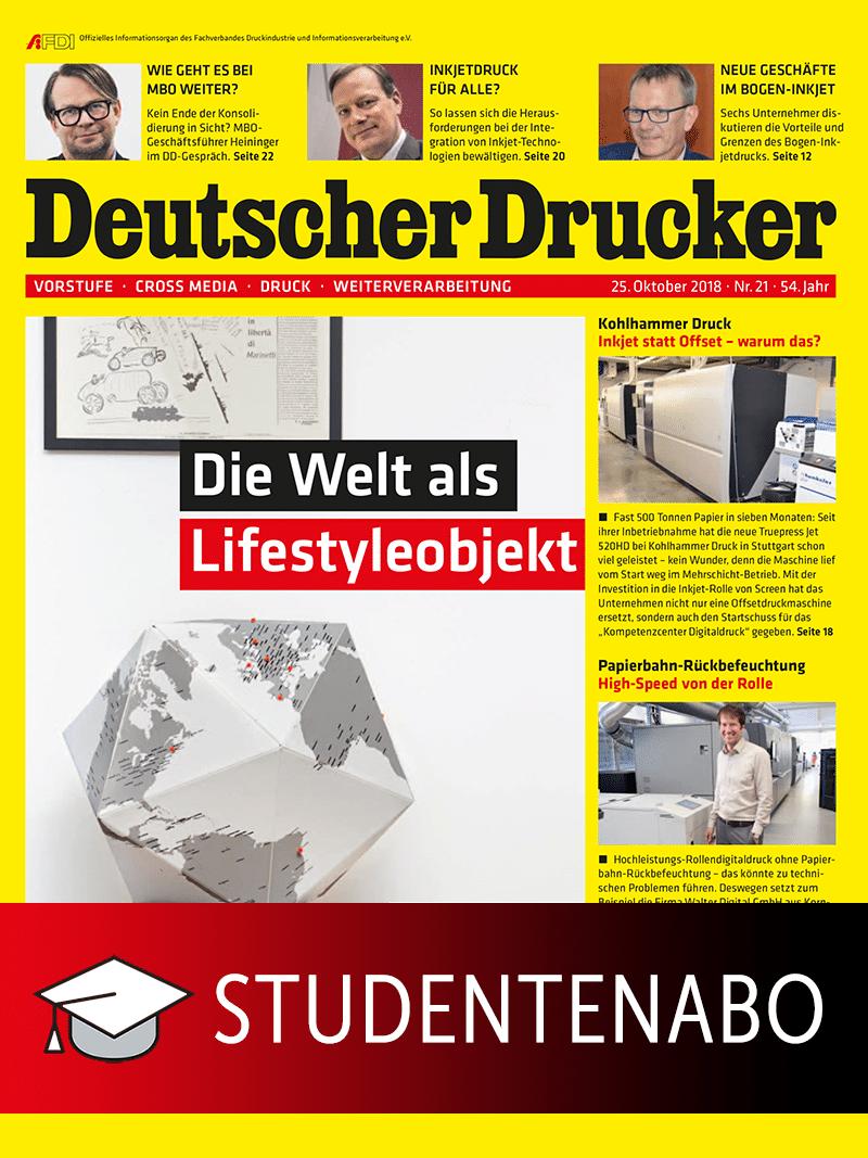 Produkt: Deutscher Drucker Studentenabonnement Print