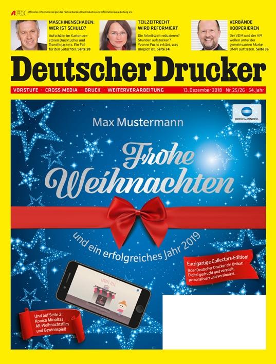 Produkt: Deutscher Drucker 25-26/2018 Digital