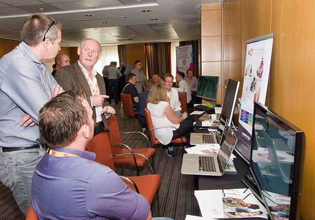 Bei der GUA-Konferenz der europäischen Kodak-Anwender wurden Markt- und Technologietrends diskutiert, unter anderem im Kodak Lab (im Bild).