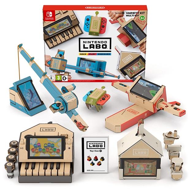 """Die Nintedo-Labo-Spielekonsole kann mit Hilfe von Bausätzen aus Wellpappe in ein Klavier, eine Angel oder andere Gegenständ """"verwandelt"""" werden. Die Wellpappen-Bausätze werden vom Verpackungsspezialisten Thimm in drei seiner deutschen Werke produziert."""