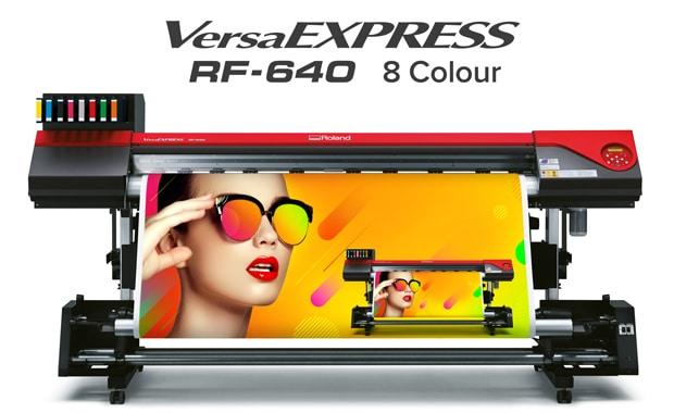 Auf der Viscom wird die Roland DG unter anderem den Achtfarben-Drucker Versa-Express RF-640 präsentieren.