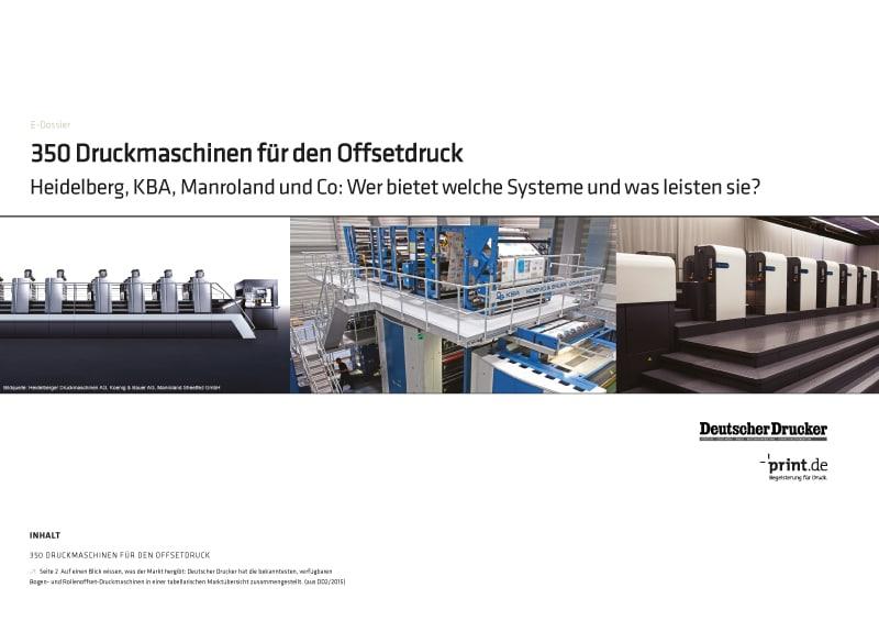 Produkt: Download »350 Druckmaschinen für den Offsetdruck«