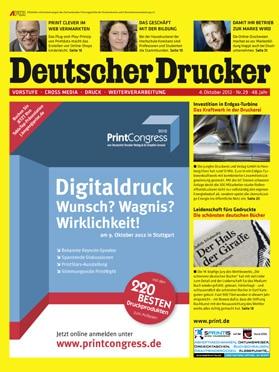 Produkt: Deutscher Drucker 29/2012 Digital