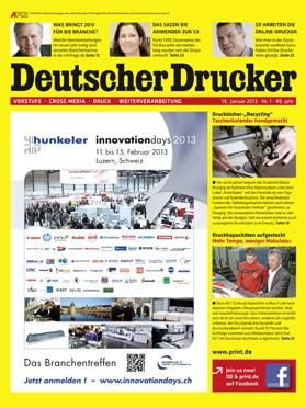 Produkt: Deutscher Drucker 1/2013 Digital