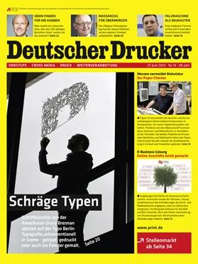 Produkt: Deutscher Drucker 13/2013 Digital