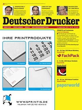 Produkt: Deutscher Drucker 18/2013 Digital