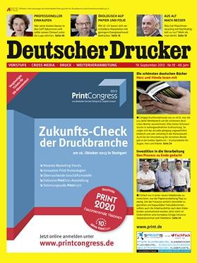 Produkt: Deutscher Drucker 19/2013 Digital