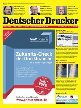 Produkt: Deutscher Drucker 20/2013 Digital