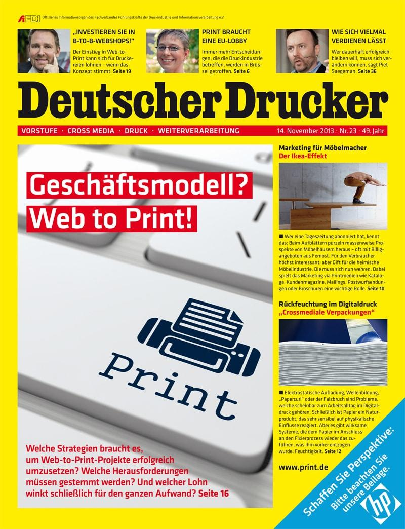 Produkt: Deutscher Drucker 23/2013 Digital
