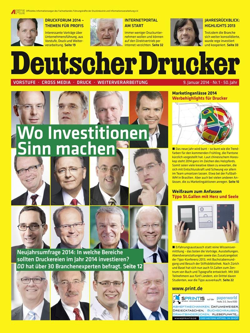 Produkt: Deutscher Drucker 1/2014 Digital