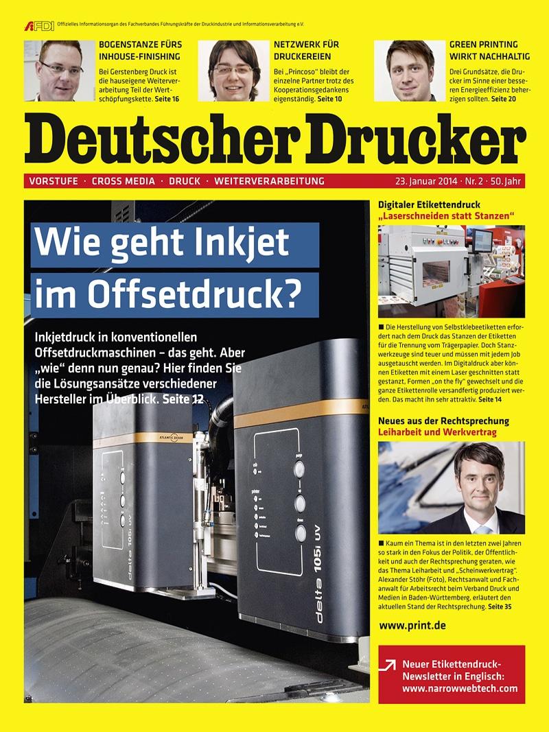 Produkt: Deutscher Drucker 2/2014 Digital