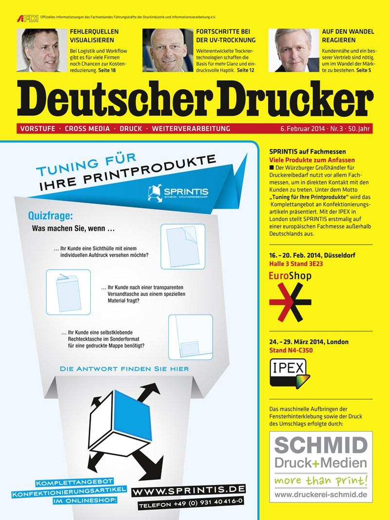 Produkt: Deutscher Drucker 3/2014 Digital