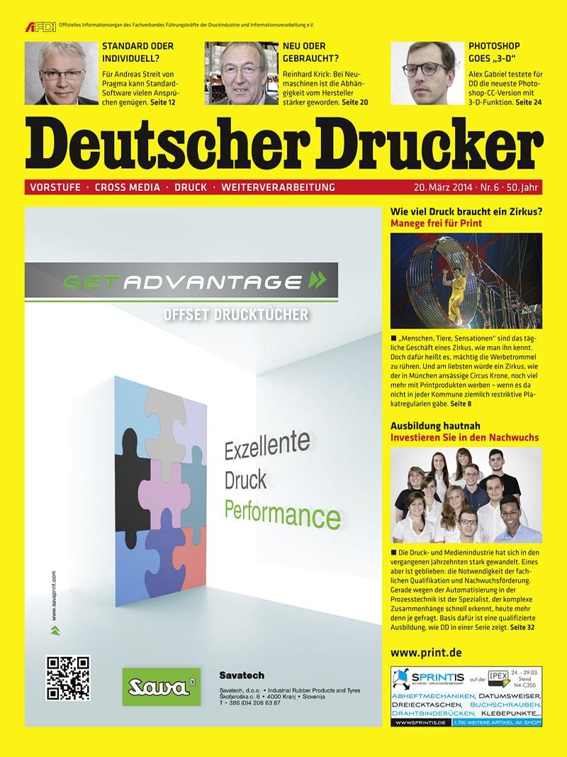 Produkt: Deutscher Drucker 6/2014 Digital