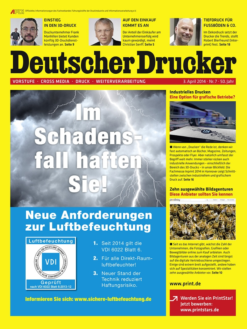 Produkt: Deutscher Drucker 7/2014 Digital