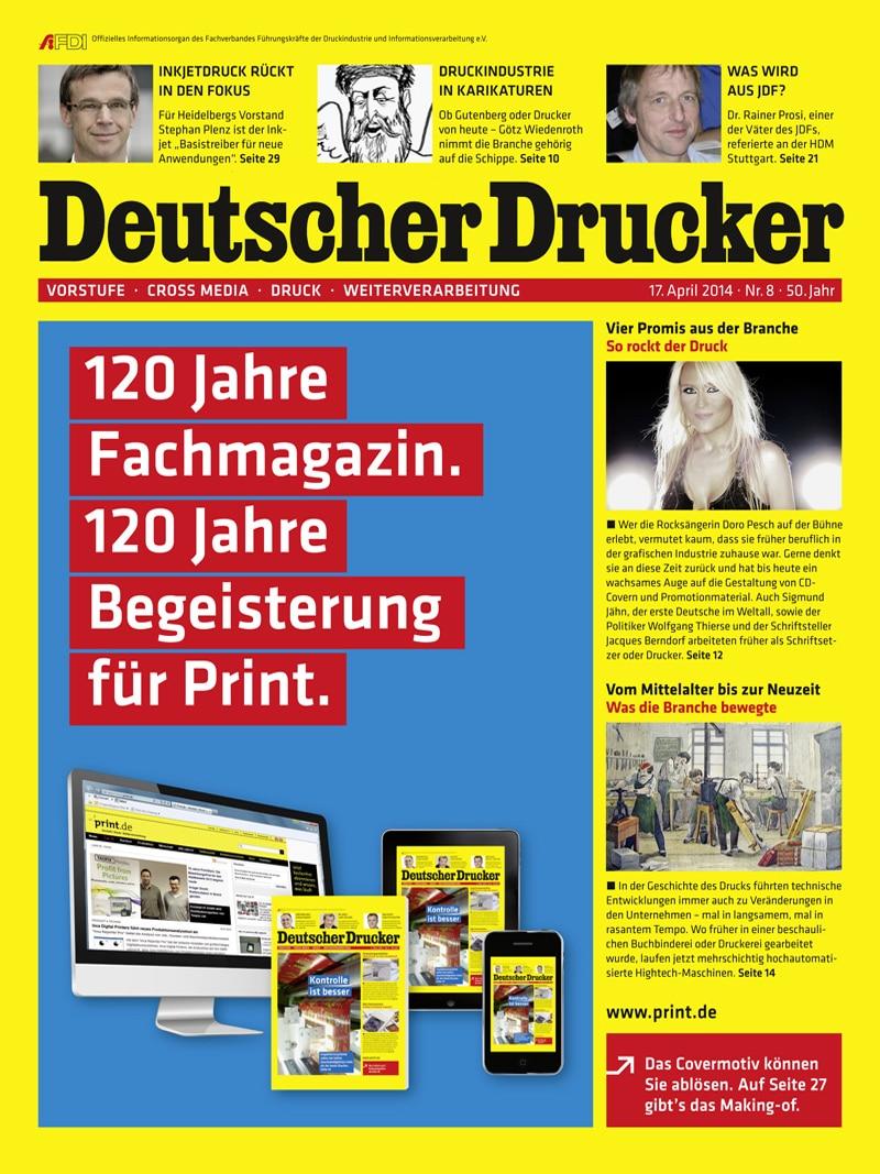 Produkt: Deutscher Drucker 8/2014 Digital