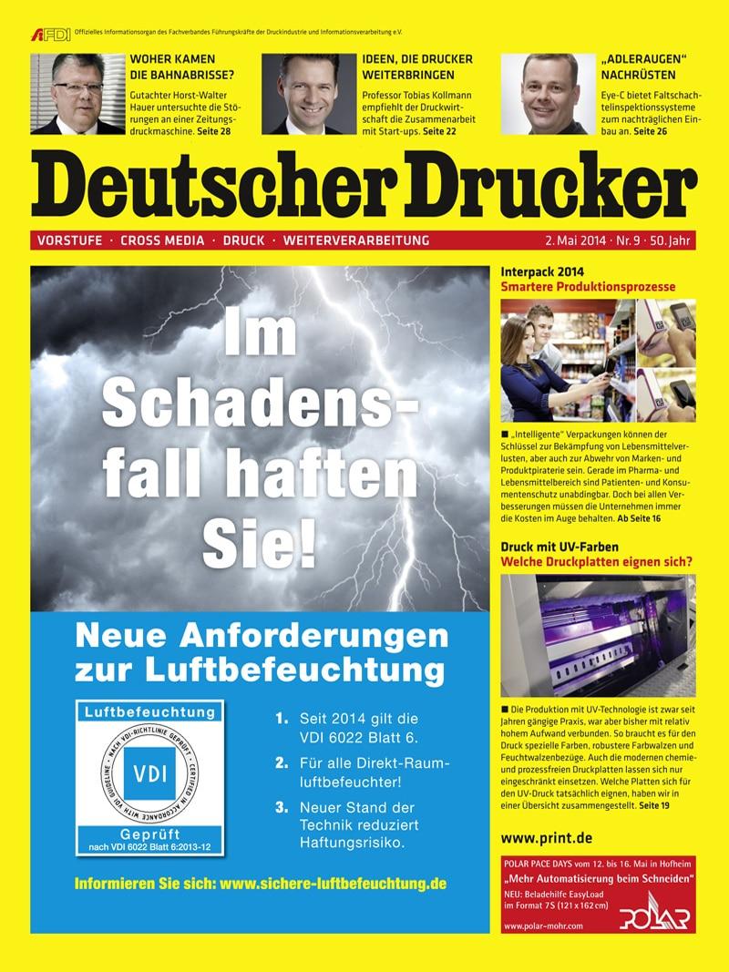 Produkt: Deutscher Drucker 9/2014 Digital