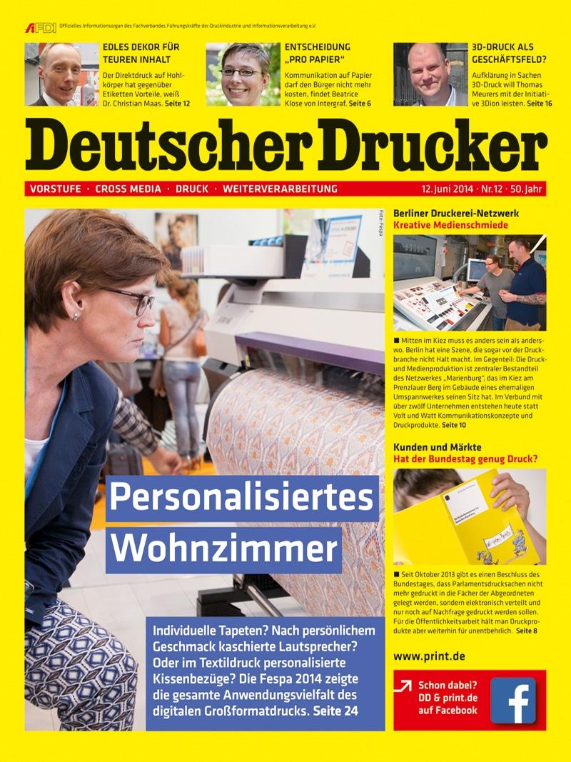 Produkt: Deutscher Drucker 12/2014 Digital