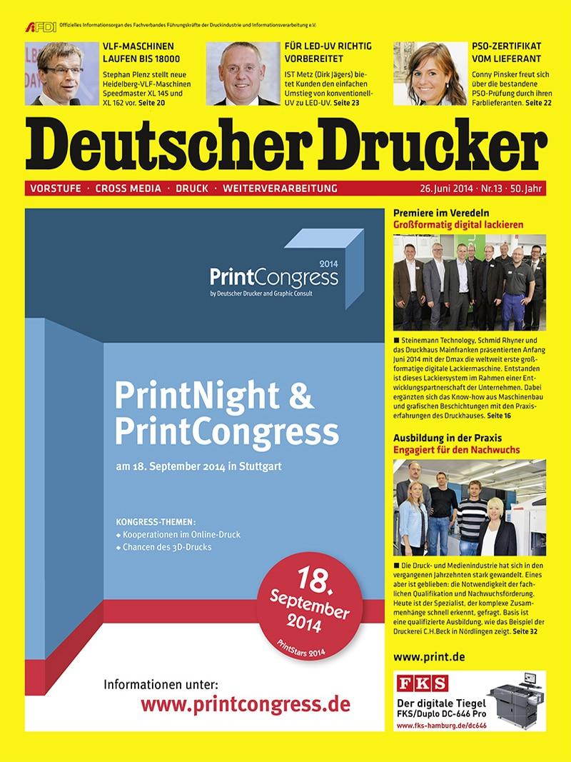 Produkt: Deutscher Drucker Digital 13/2014
