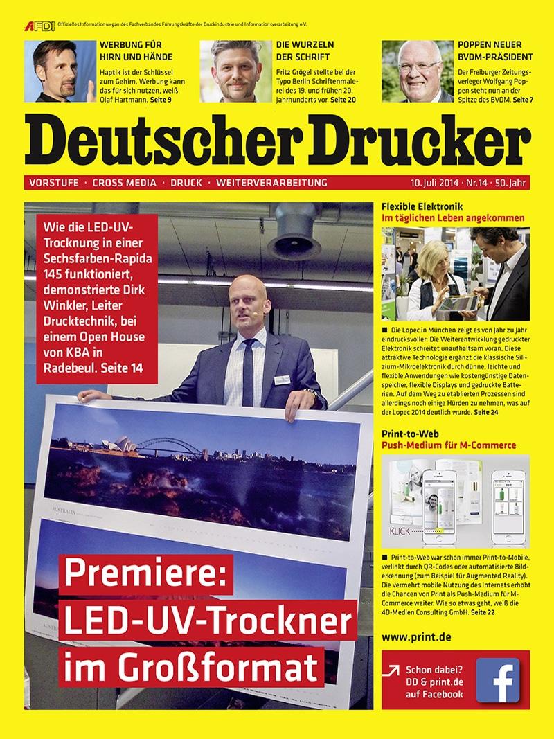 Produkt: Deutscher Drucker 14/2014 Digital