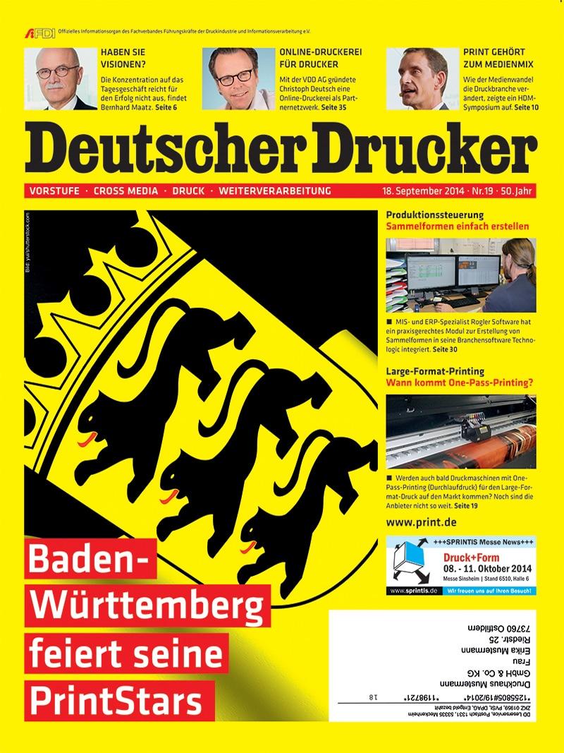Produkt: Deutscher Drucker 19/2014 Digital
