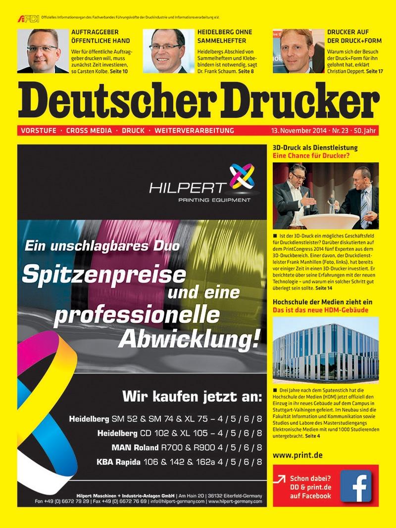 Produkt: Deutscher Drucker 23/2014 Digital